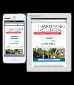 Mobile Webseite für Kanzlei Hartmann & Kollegen, Offenburg